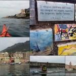 Escursione in kayak a Genova Nervi e Bogliasco (Liguria) del 3 Aprile 2016 – Circa 7 Km.