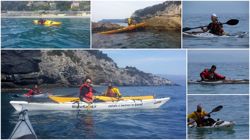 bergeggi allenamento e manovre in kayak