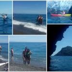 Escursione in Kayak a Bergeggi (Liguria) del 21 Maggio 2016 – Circa 8 Km. Kayak excursion in Bergeggi (Liguria) of May, 21, 2016 – About 8 Km.