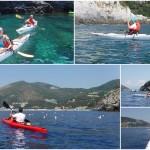 Escursione in kayak a Bergeggi (Liguria) del 10 Luglio 2016 – Circa 4 Km.
