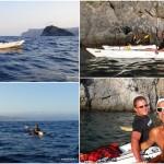 Venerdì 29 luglio 2016 escursione al tramonto in kayak a Bergeggi (Liguria) – Circa 4 Km.