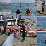 """Corso di kayak da mare """"PROGRESS"""" a Bergeggi, II sessione, ed esame Pagaia Azzurra 2"""