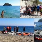 Escursione in kayak a Bergeggi (Liguria) del 30 Ottobre 2016 – Circa 8 Km. Kayak excursion in Bergeggi (Liguria) of October, 30, 2016 – About 8 Km.