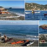 Escursione in kayak a Bergeggi e Spotorno (Liguria) del 18 dicembre 2016