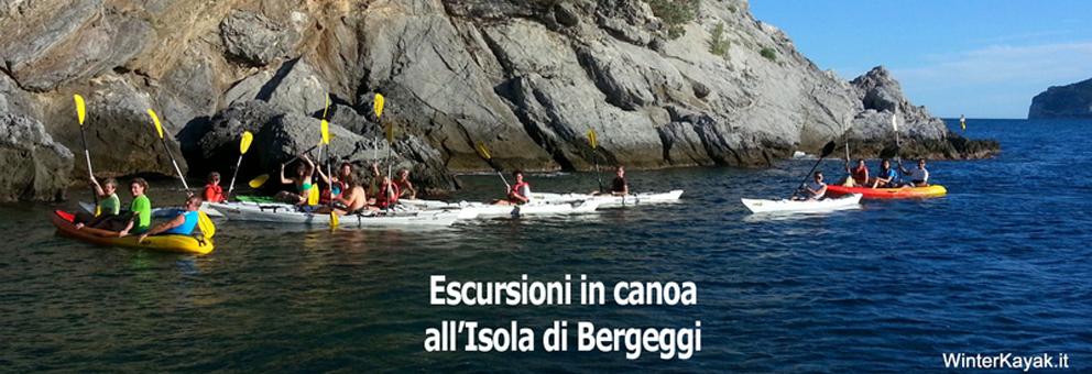 Su prenotazione corsi ed escursioni tecniche alle grotte e all'Isola di Bergeggi in canoa/kayak da mare e SUP.