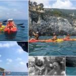 Escursione in kayak a Bergeggi (Liguria) del 22 Luglio 2017