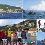 Addio al celibato in kayak all'Isola di Bergeggi (SV) del 17 Settembre 2017